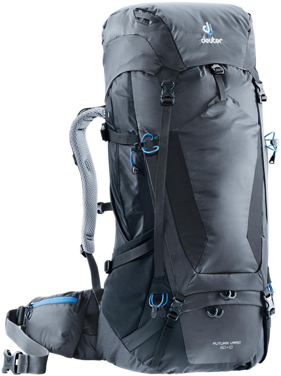 """Рюкзак туристический Deuter """"Futura Vario"""", цвет: темно-серый, черный, 50 л"""