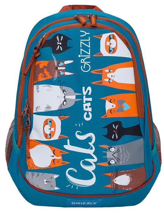 "Рюкзак ""Grizzly"", цвет: бирюзовый, 15 л. RD-832-1/2"