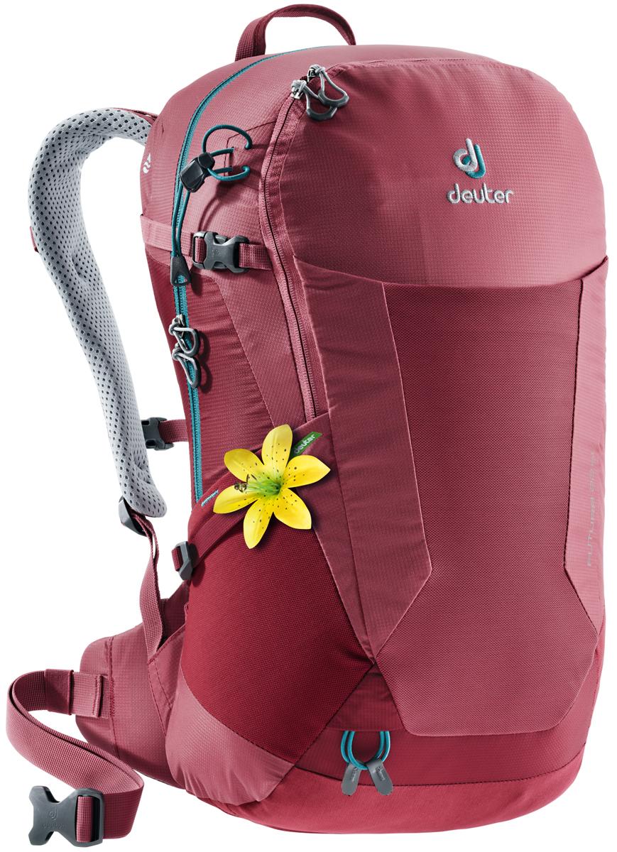 Рюкзак туристический Deuter Futura, цвет: красный, 22 л велорюкзак deuter 2015 aircomfort futura 24 sl papaya lava 34224 9503