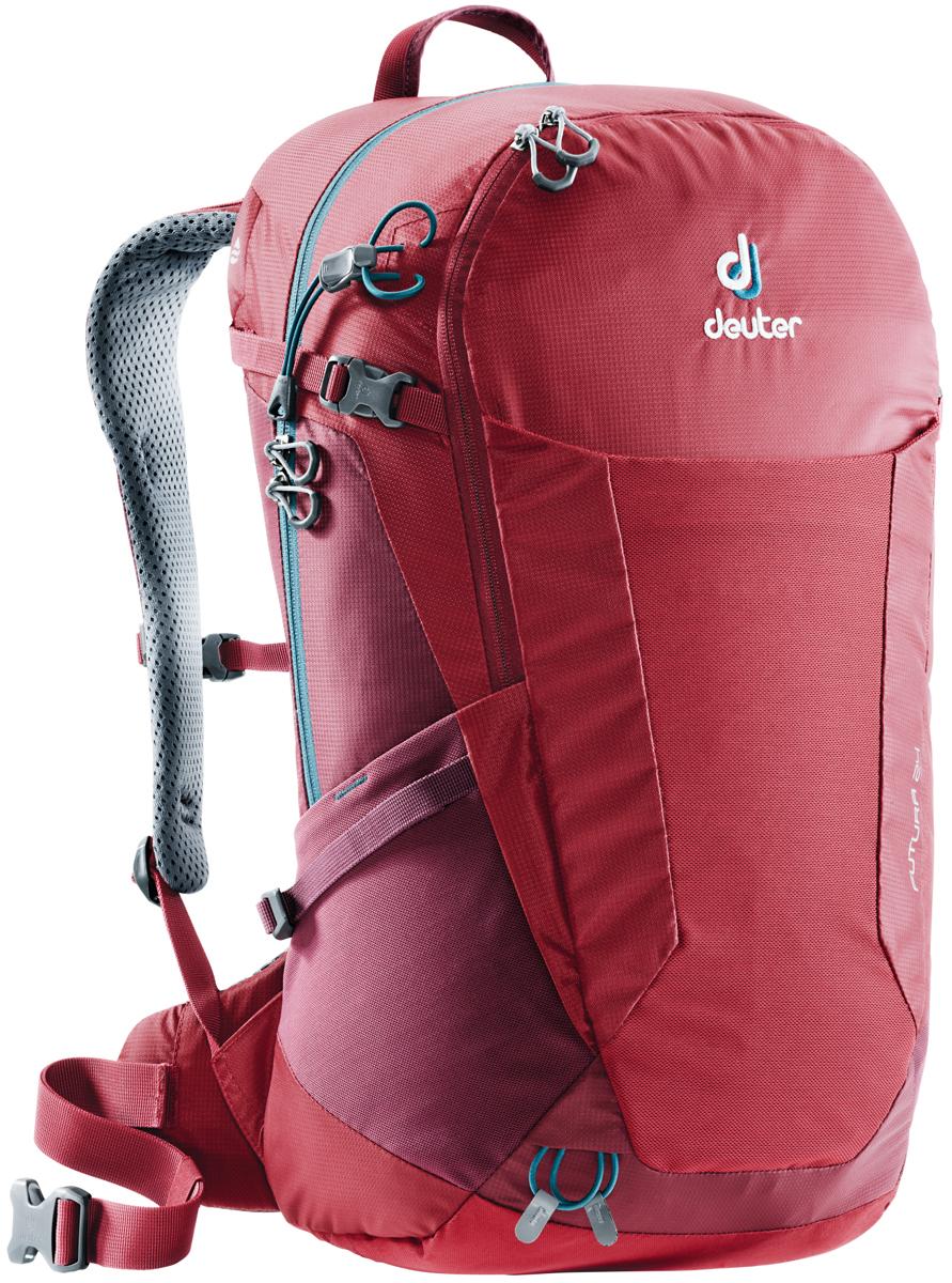 Рюкзак туристический Deuter Futura, цвет: красный, 24 л. 3400118_5528 велорюкзак deuter 2015 aircomfort futura 24 sl papaya lava 34224 9503
