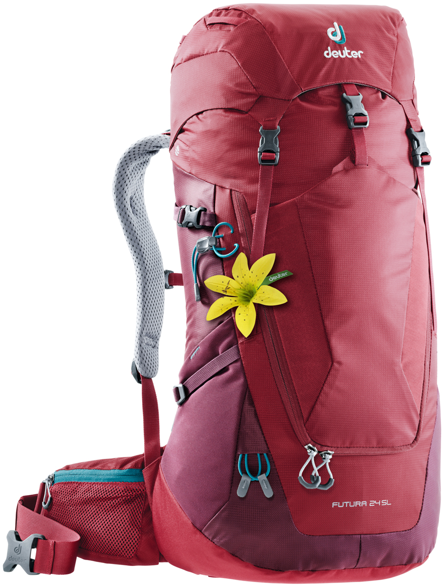 Рюкзак туристический Deuter Futura, цвет: красный, 24 л. 3400218_5528 велорюкзак deuter 2015 aircomfort futura 24 sl papaya lava 34224 9503