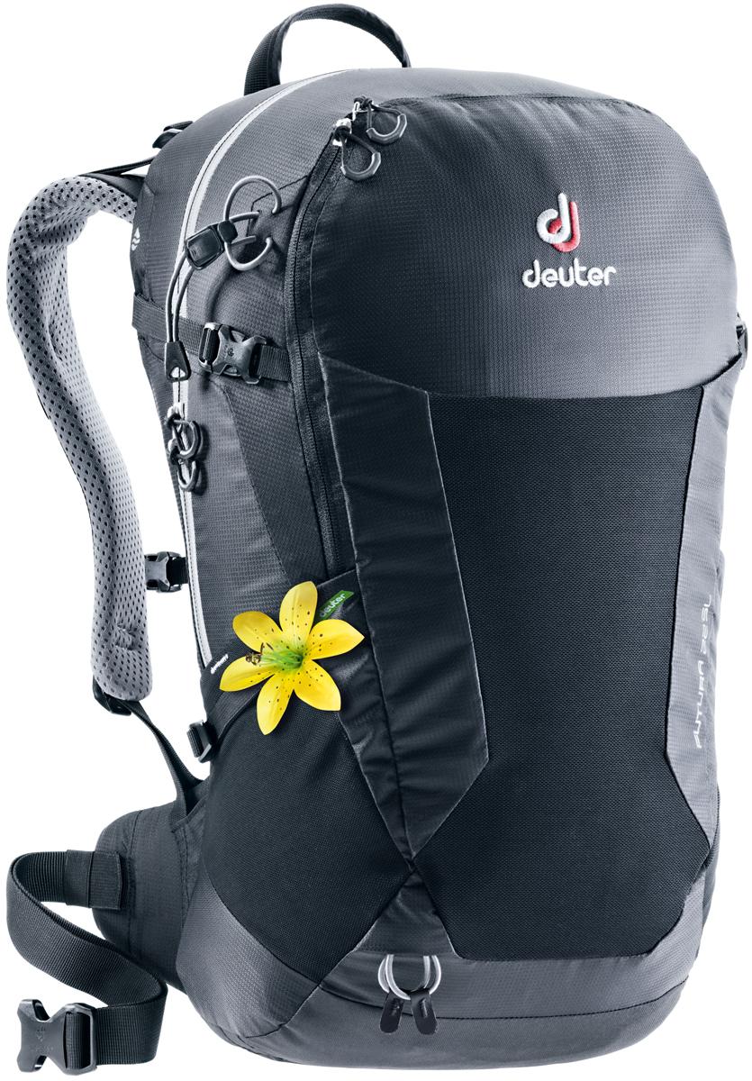 Рюкзак туристический Deuter Futura, цвет: черный, 22 л велорюкзак deuter 2015 aircomfort futura 24 sl papaya lava 34224 9503