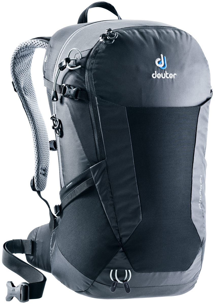 Рюкзак туристический Deuter Futura, цвет: черный, 24 л. 3400118_7000 велорюкзак deuter 2015 aircomfort futura 24 sl papaya lava 34224 9503