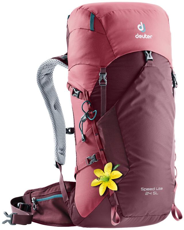"""Рюкзак туристический Deuter """"Speed Lite"""", цвет: бордовый, фуксия, 24 л"""