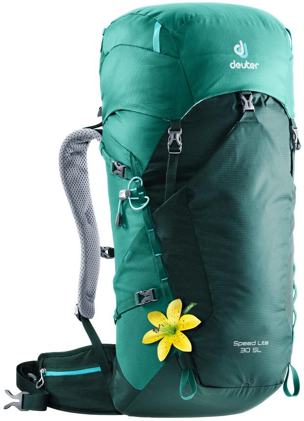 """Рюкзак туристический Deuter """"Speed Lite"""", цвет: зеленый, 30 л"""