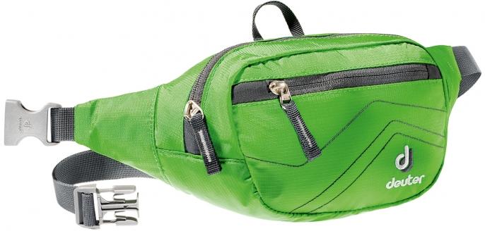 Сумка на пояс Deuter Belt, цвет: зеленый, серый