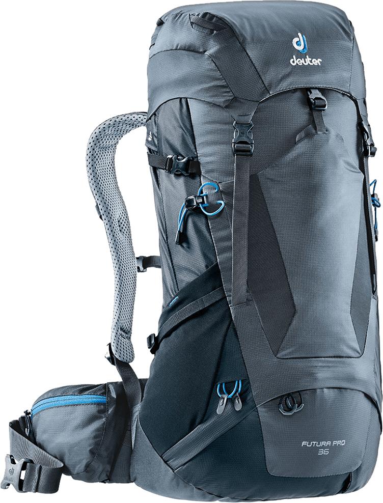 """Рюкзак туристический Deuter """"Futura PRO"""", цвет: темно-серый, черный, 36 л"""