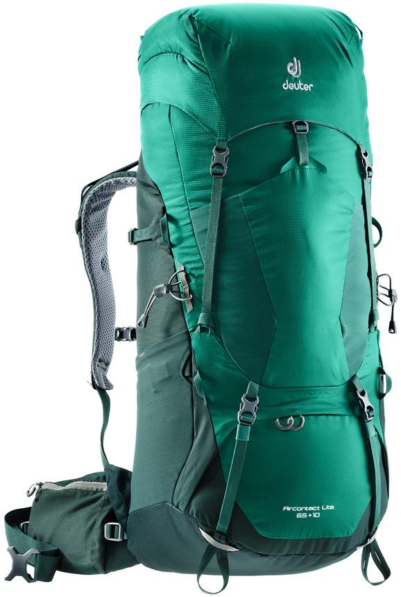 Рюкзак туристический Deuter Aircontact Lite, цвет: салатовый, зеленый, 65 л цена