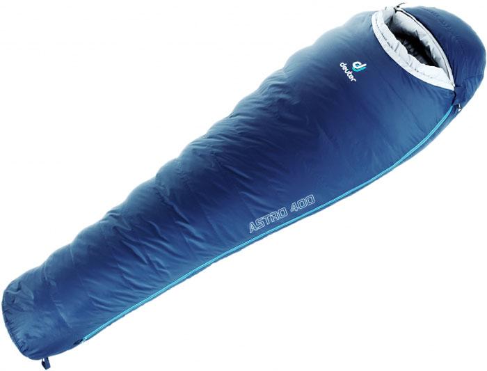 Мешок спальный Deuter Astro 400, левосторонняя молния, экстремальная температура -14 °C, цвет: темно-синий