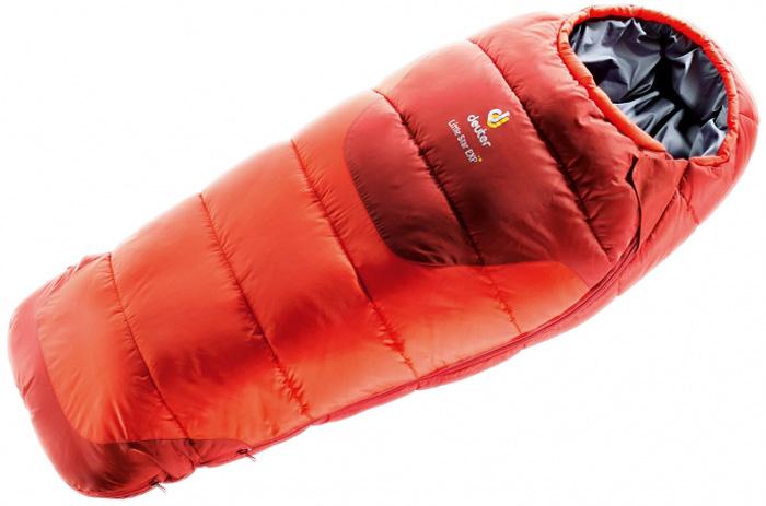 Мешок спальный Deuter Little Star Exp , левосторонняя молния, цвет: оранжевый