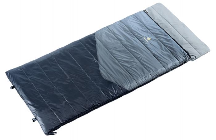 Мешок спальный Deuter Space II , левосторонняя молния, экстремальная температура -14 °C, цвет: серый, черный