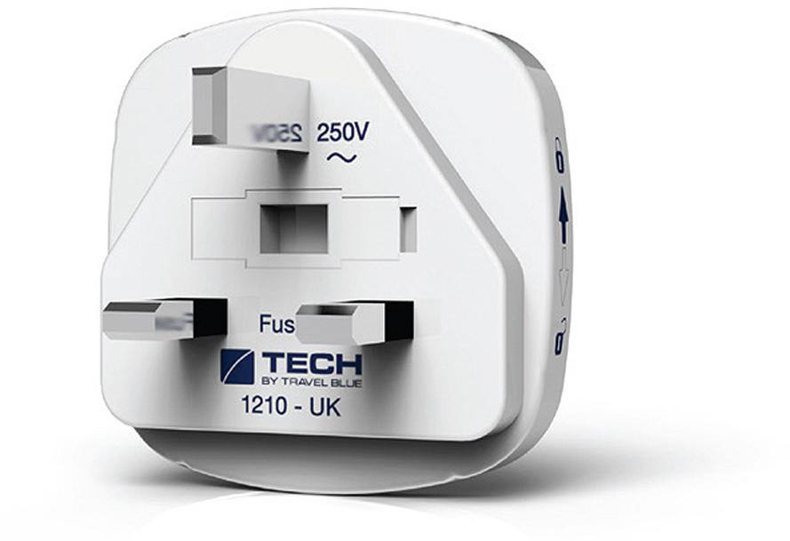 Сетевой адаптер-переходник Travel Blue EU-to-UK, цвет: белый. TB_933_WHT