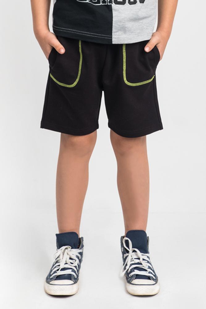 Шорты от Boom! выполнены из эластичного хлопкового трикотажа. Модель с эластичной резинкой на талии и регулируемым шнурком по бокам дополнена втачными карманами.