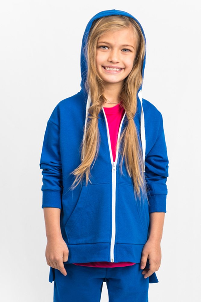 Толстовка для девочки Boom!, цвет: синий. 80388_BLG. Размер 110/116