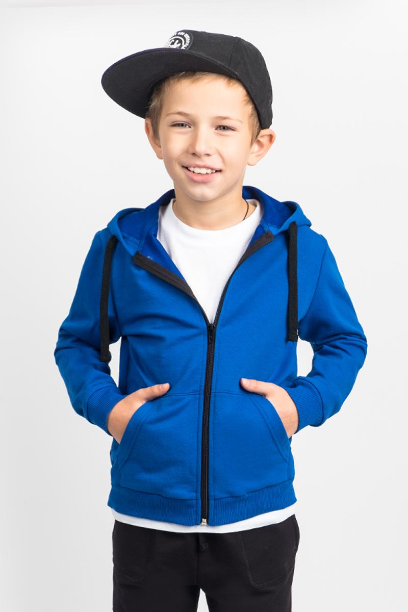 Толстовка для мальчика Boom!, цвет: синий. 80398_BLB. Размер 98/104