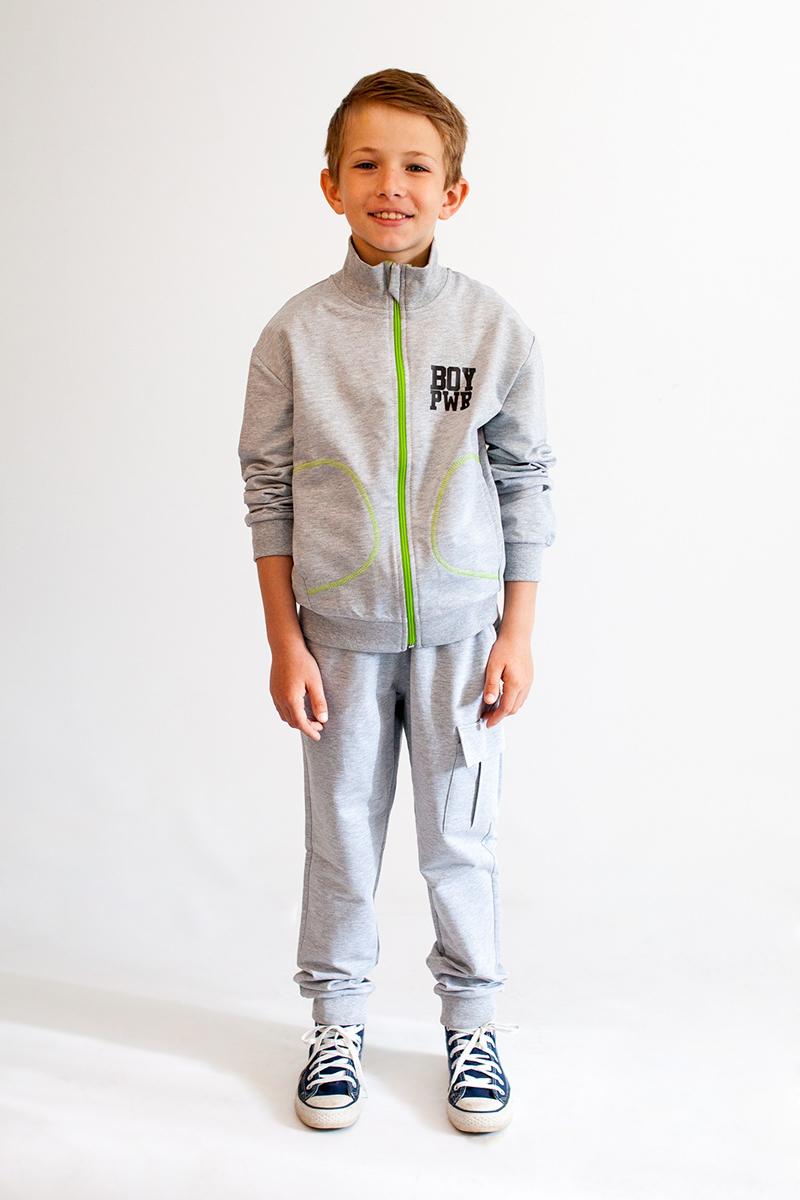 Спортивный костюм для мальчика Boom!, цвет: серый. 80399_BLB. Размер 158 толстовки и кофты
