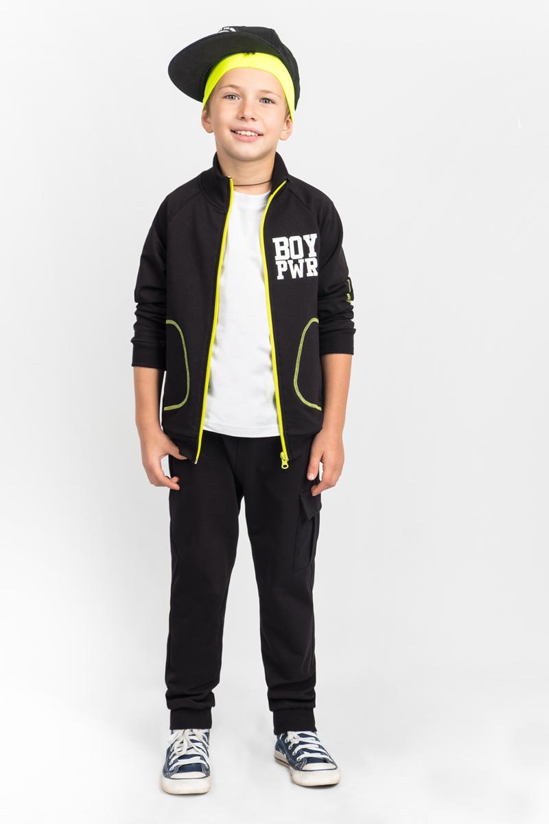 Спортивный костюм для мальчика Boom!, цвет: черный. 80399_BLB. Размер 158 толстовки и кофты