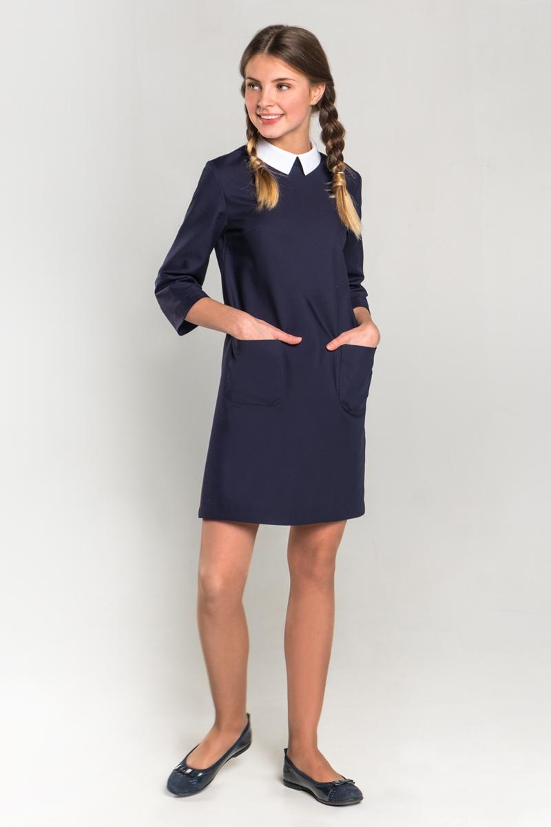 Платье для девочки Orby, цвет: синий. 80404_OLG. Размер 152