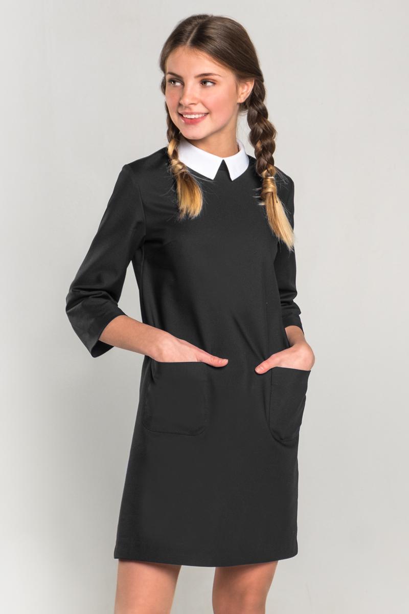Платье для девочки Orby, цвет: черный. 80404_OLG. Размер 134