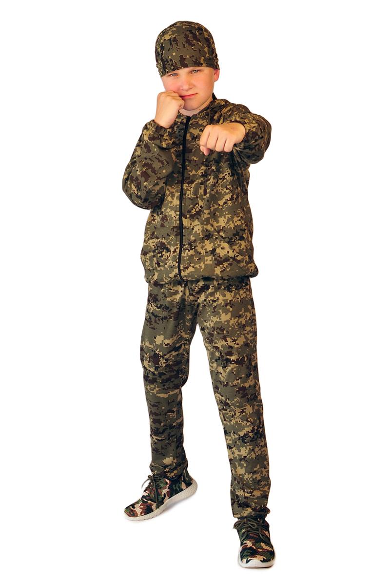 Трикотаж (100% хлопок), пл. 180 г/м2Универсальный костюм для мальчиков и девочек подходит для занятий спортом, для ежедневного ношения, пеших прогулок и отдыха на природе. Куртка с капюшоном и удобными глубокими карманами, снабжена центральной застежкой на молнию. По низу куртки проходит эластичкая резинка. Такая же эластичная резинка есть в манжетах рукавов. Брюки трикотажного костюма просты и удобны. В поясе и по низу брюк эластичная резинка. Как и куртка, снабжены глубокими карманами.