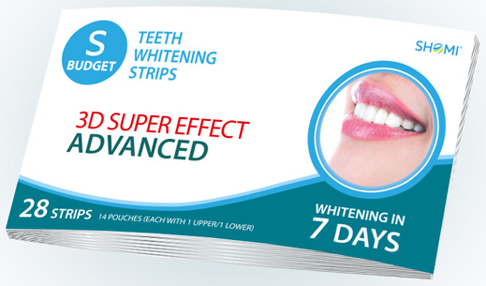 Shomi Sbudjet 3D Super Effect Advanced 7 Days Отбеливающие полоски для зубов
