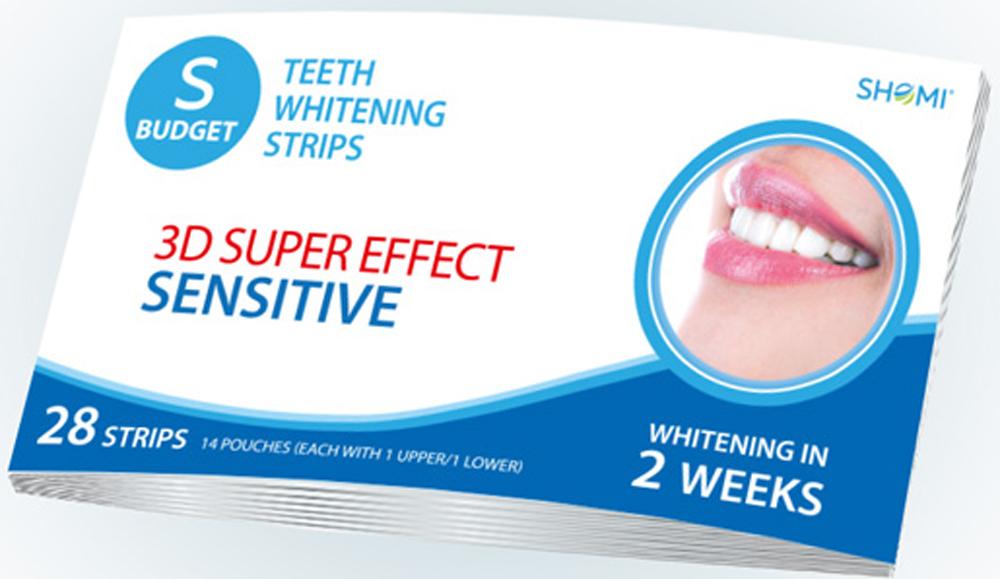 купить Shomi Sbudjet 3D Super Effect Advanced 2 Weeks Отбеливающие полоски для зубов по цене 779 рублей