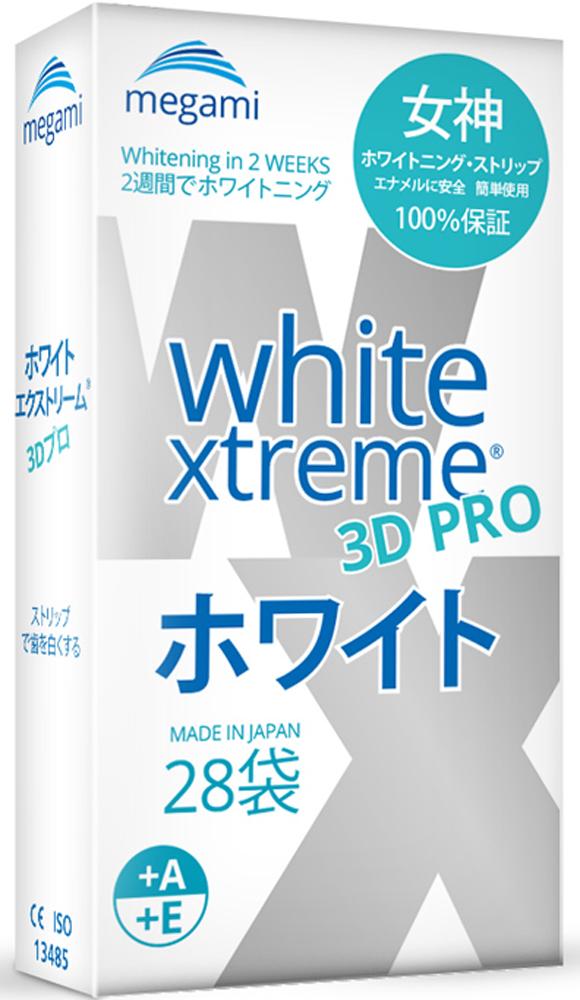 купить Megami White Xtreme 3D PRO Отбеливающие полоски для чувствительных зубов с витаминами А и Е по цене 1757 рублей