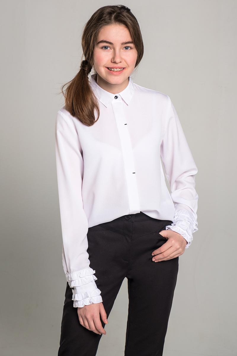 Блузка для девочки Orby, цвет: белый. 80480_OLG. Размер 152