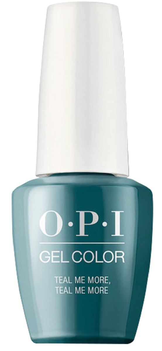 OPI GelColor Гель-лак для ногтей Teal Me More, Teal Me More, 15 мл opi гель лак gelcolor тон no more mr night sky 15 мл