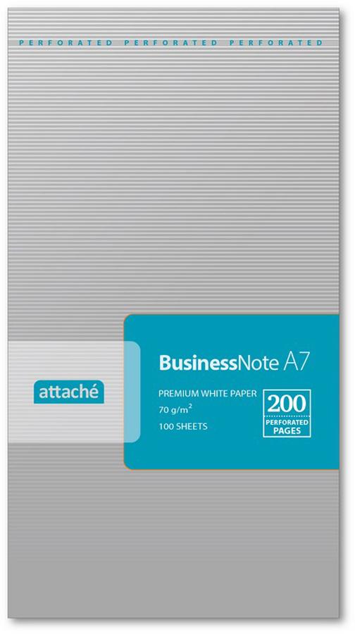 Attache Блокнот 100 листов формат А7 цвет серебристый 212944 attache блокнот fantasy 80 листов формат а6 цвет зеленый