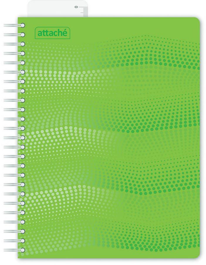 Attache Тетрадь Waves 100 листов в клетку формат А5 цвет зеленый тетради канц эксмо темно красная а5 200листов тетради с пластиковой обложкой