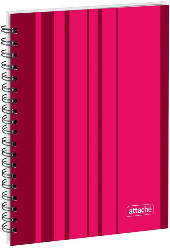 Attache Тетрадь Сoncept 120 листов формат А5 цвет бордовый, Тетради  - купить со скидкой