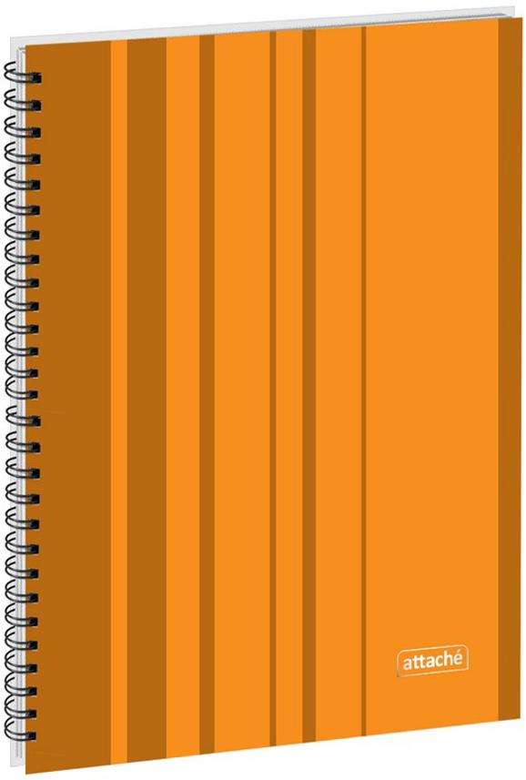 Attache Тетрадь Сoncept 120 листов в клетку формат А4 цвет оранжевый, Тетради  - купить со скидкой