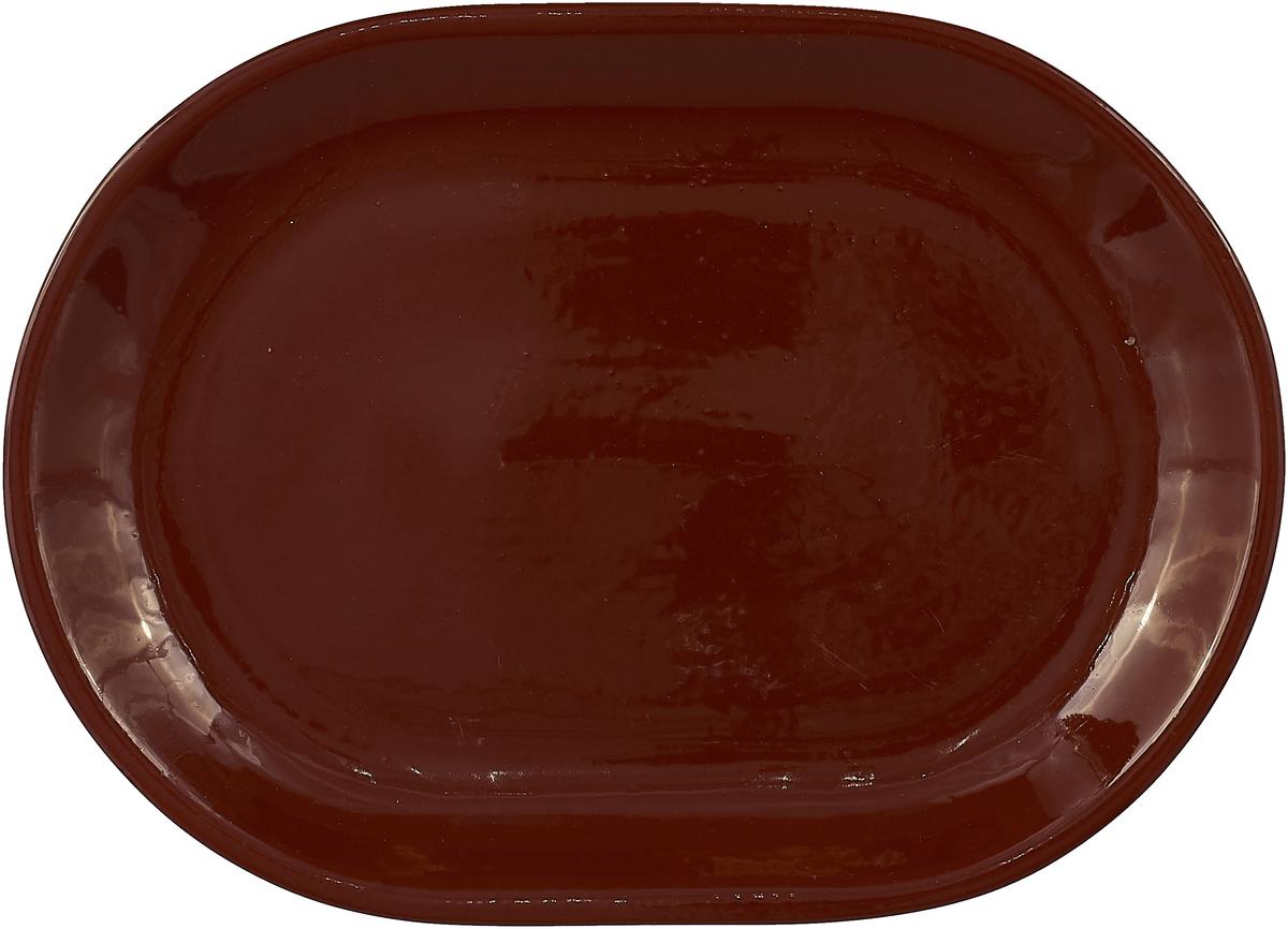 """Блюдо Борисовская керамика """"Стандарт"""", цвет: темно-коричневый"""