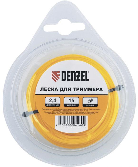 Леска для триммера Denzel, 3,0 мм х 10 м катушка для триммера denzel 96304