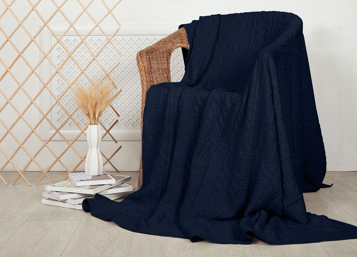 Плед ТД Текстиль Mel Sonn, цвет: синий, 220 х 240 см текстиль для дома