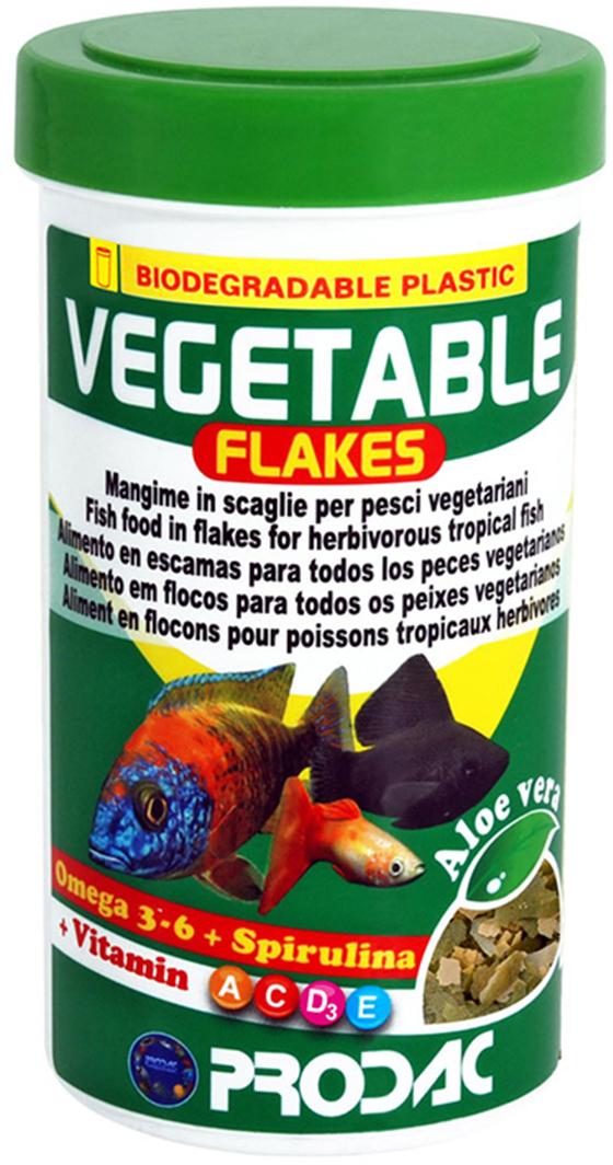 Корм сухой Prodac Vegetable Flakes, для аквариумных пресноводных рыб, в виде хлопьев, 20 г корм сухой prodac tubifex для аквариумных пресноводных рыб 10 г