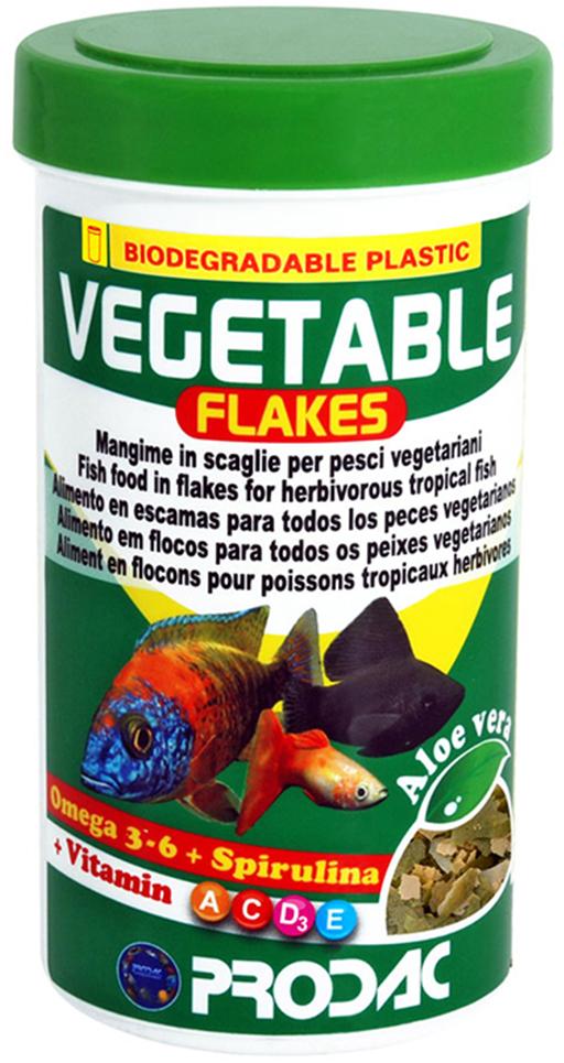 Корм сухой Prodac Vegetable Flakes, для аквариумных пресноводных рыб, в виде хлопьев, 50 г корм сухой prodac tubifex для аквариумных пресноводных рыб 10 г