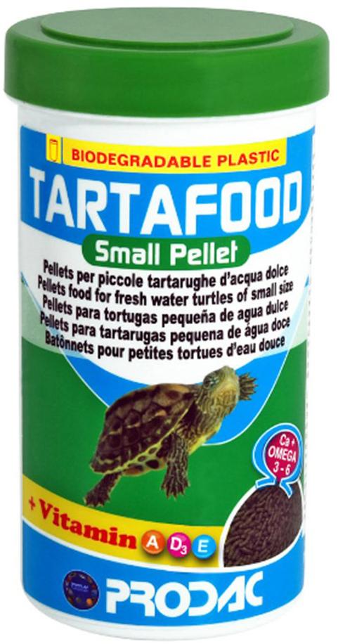 """Корм сухой Prodac """"Tartafood Small Pellet"""", для пресноводных черепах, в виде палочек, 75 г"""