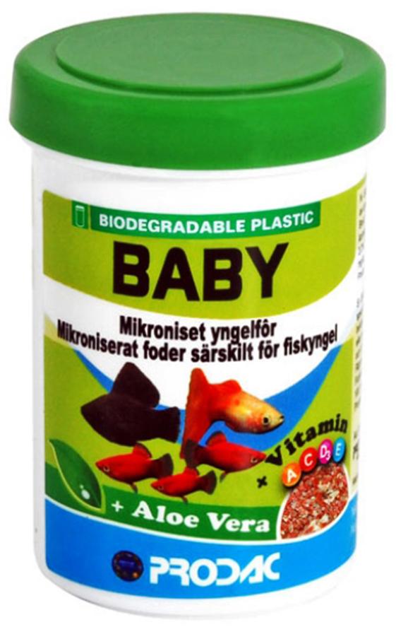 Корм сухой Prodac Baby Food, для аквариумных пресноводных рыб, в виде микрохлопьев, 15 г корм сухой prodac tubifex для аквариумных пресноводных рыб 10 г