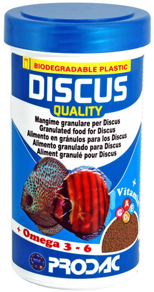 Корм сухой Prodac Discus Quality, для аквариумных пресноводных рыб, в гранулах, 90 г корм сухой prodac tubifex для аквариумных пресноводных рыб 10 г