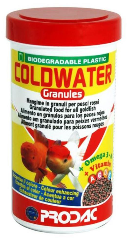 Корм сухой Prodac Coldwater Granules, для аквариумных пресноводных рыб, в гранулах, 100 г корм сухой prodac tubifex для аквариумных пресноводных рыб 10 г