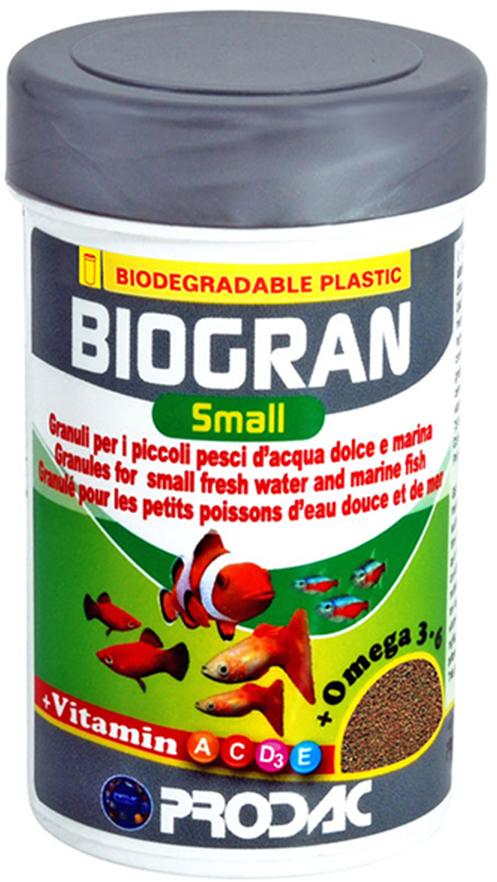 Корм сухой Prodac Biogran Small, универсальный, для рыб малых размеров,  гранулах, 130