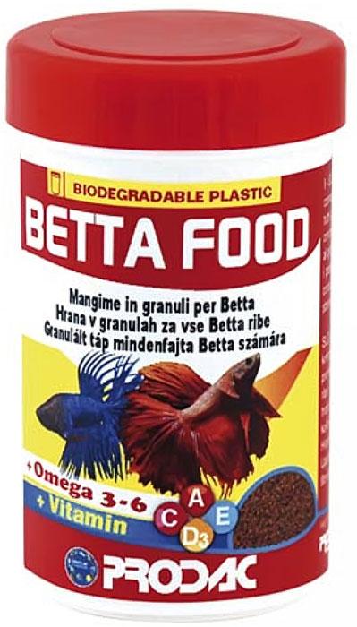 Корм сухой Prodac Betta Food, для аквариумных пресноводных рыб, в гранулах, 40 г корм сухой prodac vegetable tablet для аквариумных пресноводных рыб в таблетках 12 г