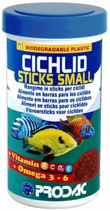 Корм сухой Prodac Cichlid Sticks Small, для аквариумных пресноводных рыб,  виде палочек, 90 г