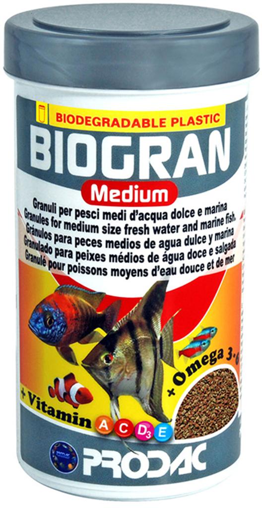 Корм сухой Prodac Biogran Medium, универсальный, для рыб средних размеров,  гранулах, 500