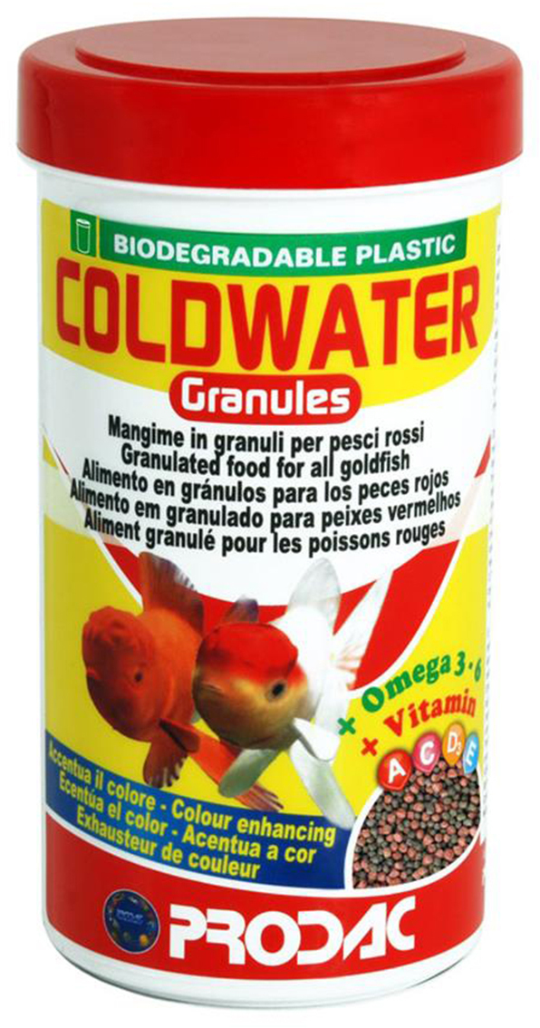Корм сухой Prodac Coldwater Granules Mini, для аквариумных пресноводных рыб, в гранулах, 125 г корм сухой prodac tubifex для аквариумных пресноводных рыб 10 г