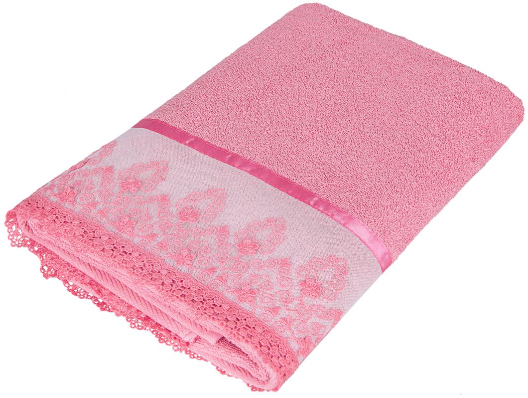 """Полотенце Soavita """"Нежность"""", цвет: брусничный, 68 х 135 см"""