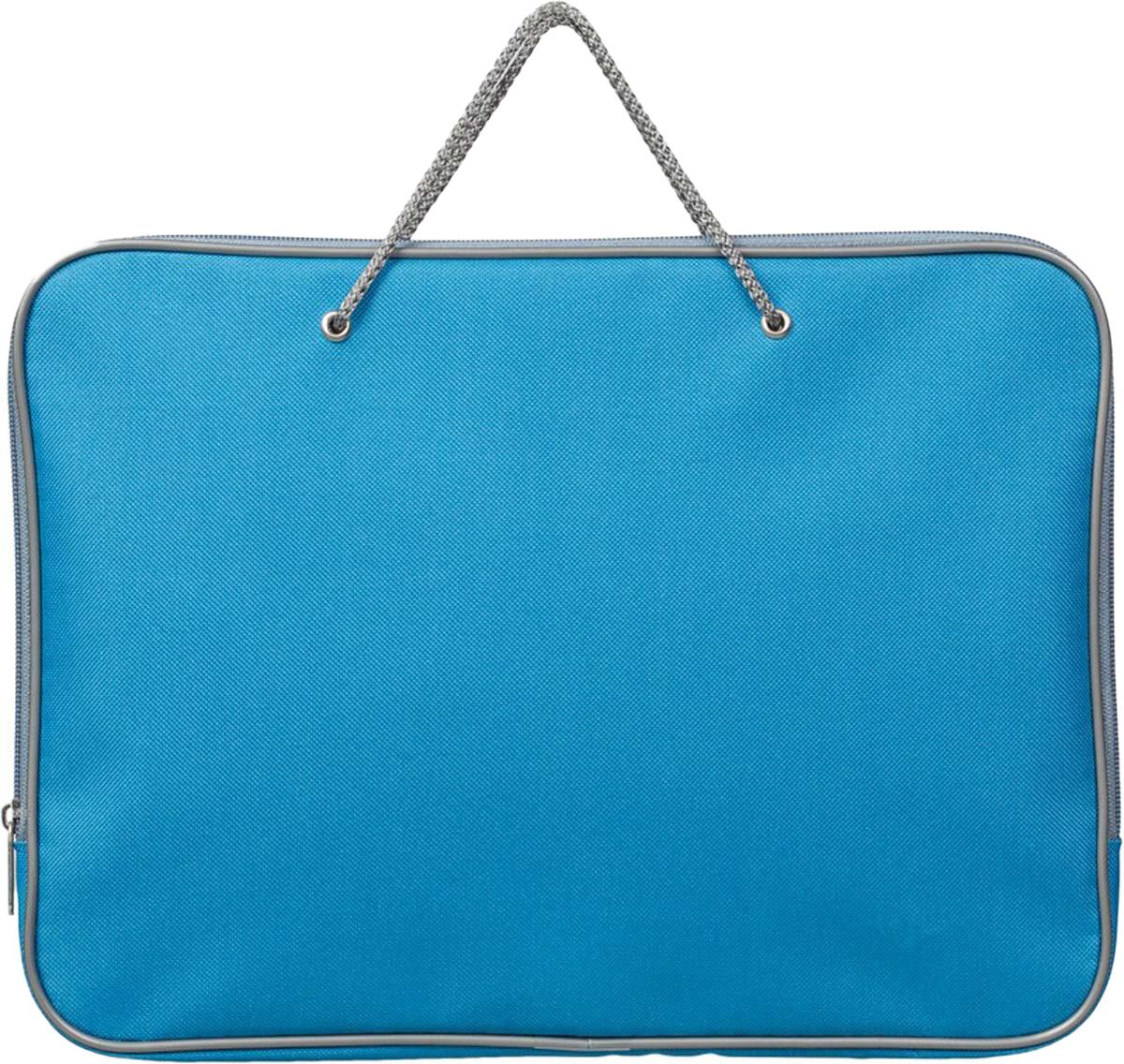 Attache Папка на молнии с ручками А4 цвет голубой -  Папки