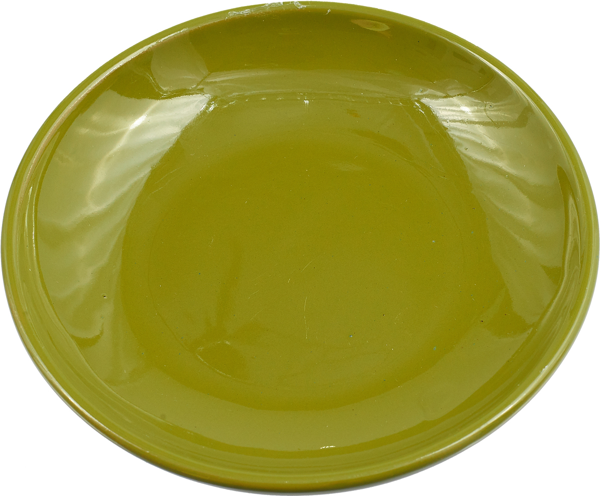 """Блюдце Борисовская керамика """"Радуга"""", цвет: болотный, диаметр 10 см"""